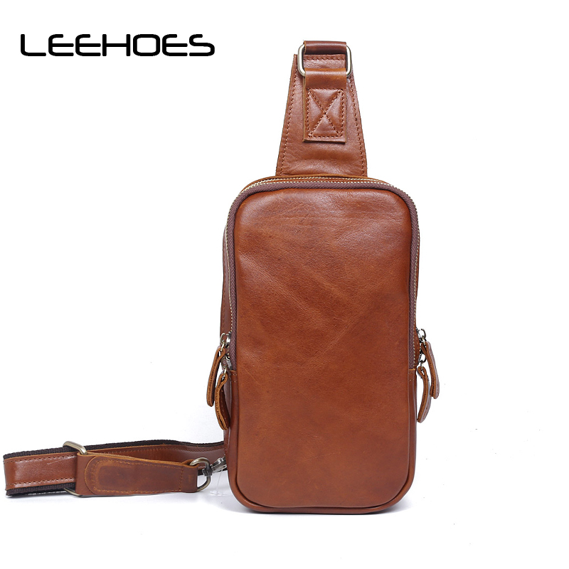 Famous Brand Waterproof Leather Zipper Open Coffee Leather Mens Chest Bags Fashion Travel Crossbody Bag Large Size Messenger Bag jeep famous brand men chest bags theftproof magnetic button open fashion leather travel crossbody bag man messenger bag 8005
