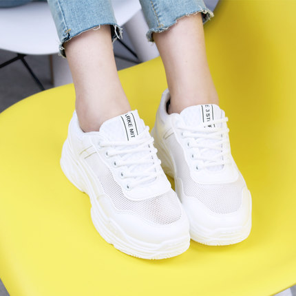 Shoes woman 2018 new Korean version of Harajuku student women breathable mesh face old shoes luxury famous brand designer 35-40