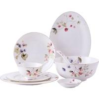 Европейская Бытовая Посуда Набор тарелок костяного фарфора Американский набор столовых приборов Фарфор 4 человек 6 маленький свежий