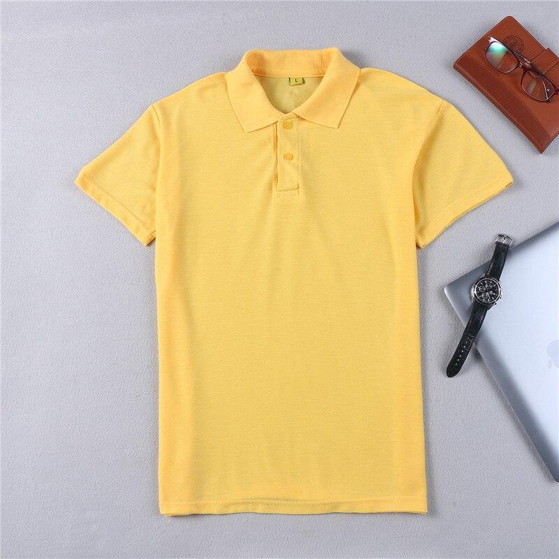 2018 Männer Polo Slim Fit Hemd Solide Atmungs Mode Lässig Männer T-shirt Tops Baumwolle Kurzarm Sommer Polo Homme Auswahlmaterialien