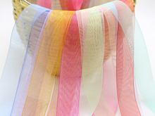 10 Meter 50mm(2) Sheer Organza Ribbon Gift Bow Wedding Craft Color