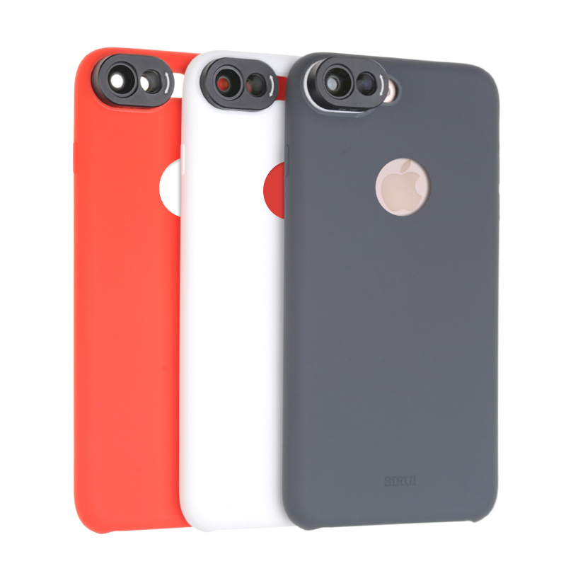 SIRUI for iphone7 PLUS 7P phone case Wide angle and widening double lens silicone case