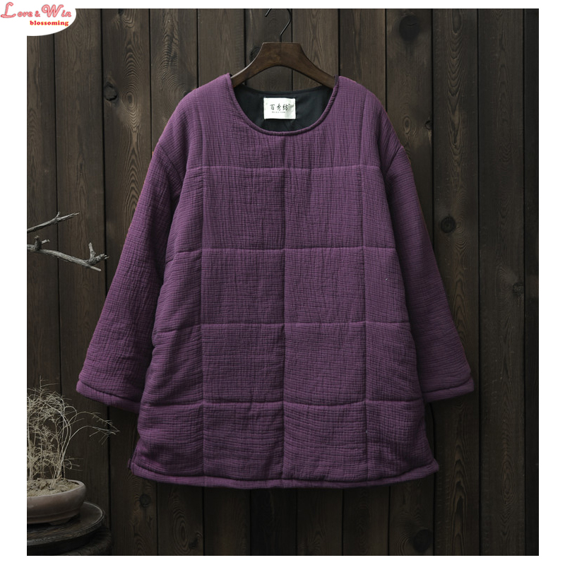 Large Size Leisure Solid Long Sleeve Warm Cotton Jumper Clothes Simple All match Just Wearing Lazy