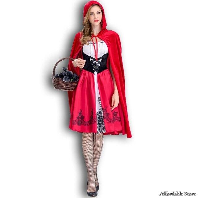 bdababc6 Nowy mały Czerwony Kapturek kostium królowa sukienka Halloween Cosplay  mundur dla dorosłych Cosplay Costume party