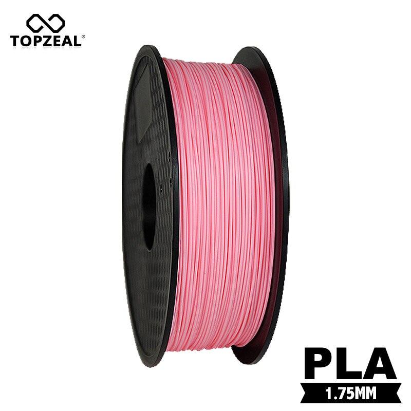 TOPZEAL Premium Quality 3D Printer Filament Pink Color PLA Filament 1.75mm 1KG Spool for Prusa i3 RagRap 3D Printing Materials     - title=