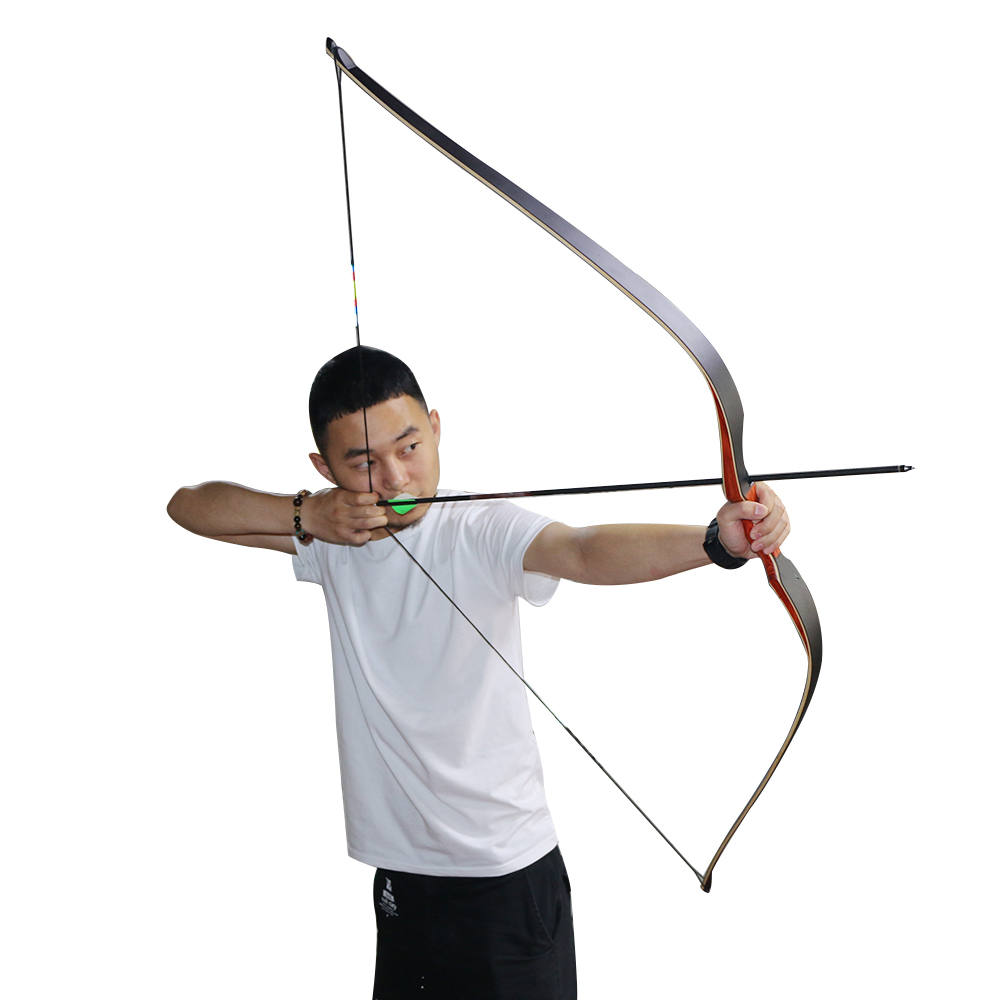 40lbs 60inch Archery Traditional Hunting Bow Laminated Wooden Shooting Recurve Bow Fiberglass Limbs for outdoor Sports Practice 1 piece hotsale black snakeskin wooden recurve bow 45lbs archery hunting bow