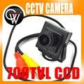 """Nuevo mini hd 700tvl 1/3 """"sony ccd 2.1mm lente gran angular cctv seguridad fpv color de la cámara de seguridad inicio"""