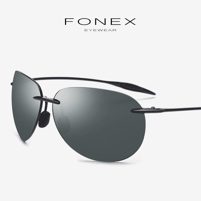 Ultem TR90 lunettes de soleil hommes Aviador miroir Aviation ultraléger haute qualité corée sans monture lunettes de soleil pour les femmes lentille en Nylon 1606