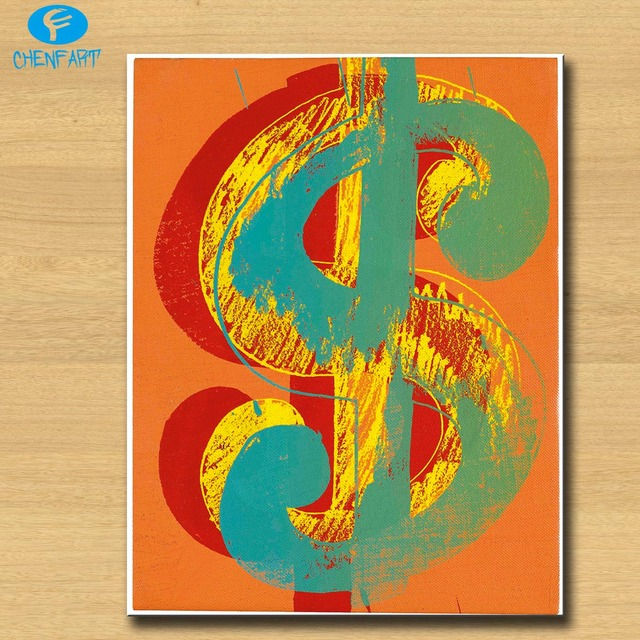 2016 New Arrival Dollar Sign Iv By Andy Warhol Pop Art Wall Painting Print On Canvas