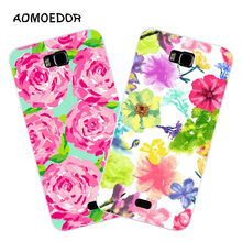 Huawei y541 Case,Silicon Colorful plant Painting Soft TPU Back Cover for Huawei y5c Phone fitted Case shell(China)