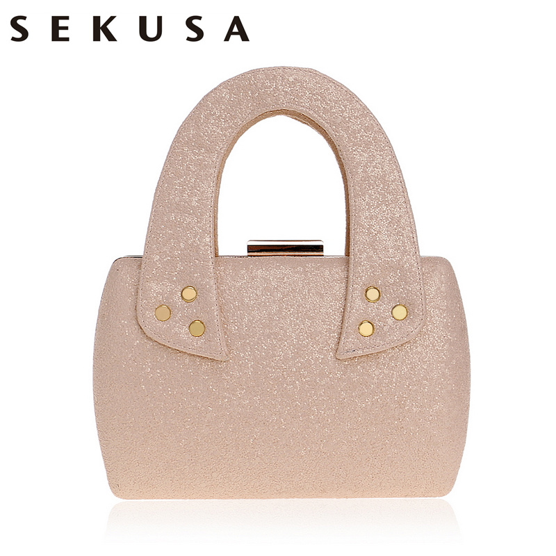 SEKUSA New Arrival Small Women Handbags Chain Shoulder Ladies Purse Bag Day Clutch Sequined Party Evening Bag For Wedding sekusa party women bag fashion lady wedding bridal day clutch purse evening bag chain shoulder handbags for dinner wallets