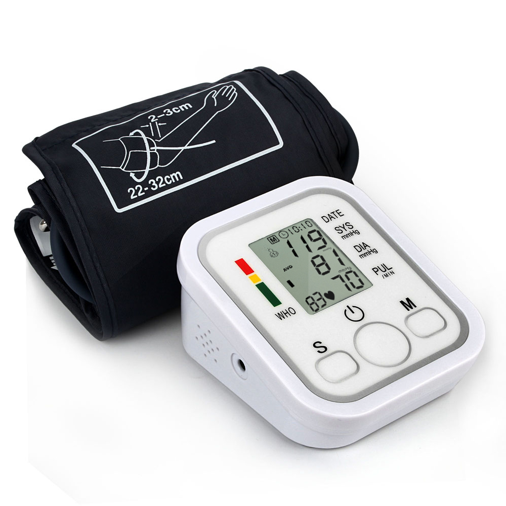 Digital Upper Arm Blood Pressure Pulse Monitor Health Care Tonometer Meter Sphygmomanometer Portable Blood Pressure Monitors home use blood pressure monitor health care heart monitor arm blood pressure monitor sphygmomanometer nonvoice
