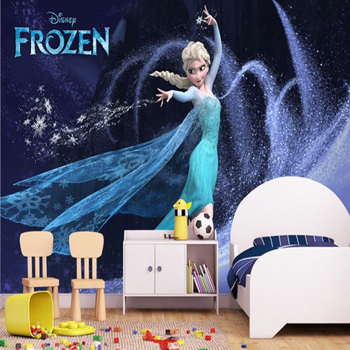 sale cartoon custcomized 3D mural wallpaper kids girls bedroom TV     sale cartoon custcomized 3D mural wallpaper kids girls bedroom TV sofa  background Frozen Anna princess 5d