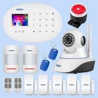 KERUI W20 المنزل نظام إنذار أمان شاشة تعمل باللمس واي فاي نظام حماية GSM لاسلكي ذكي Alarme المنزل نظام إنذار للحماية ضد السرقة
