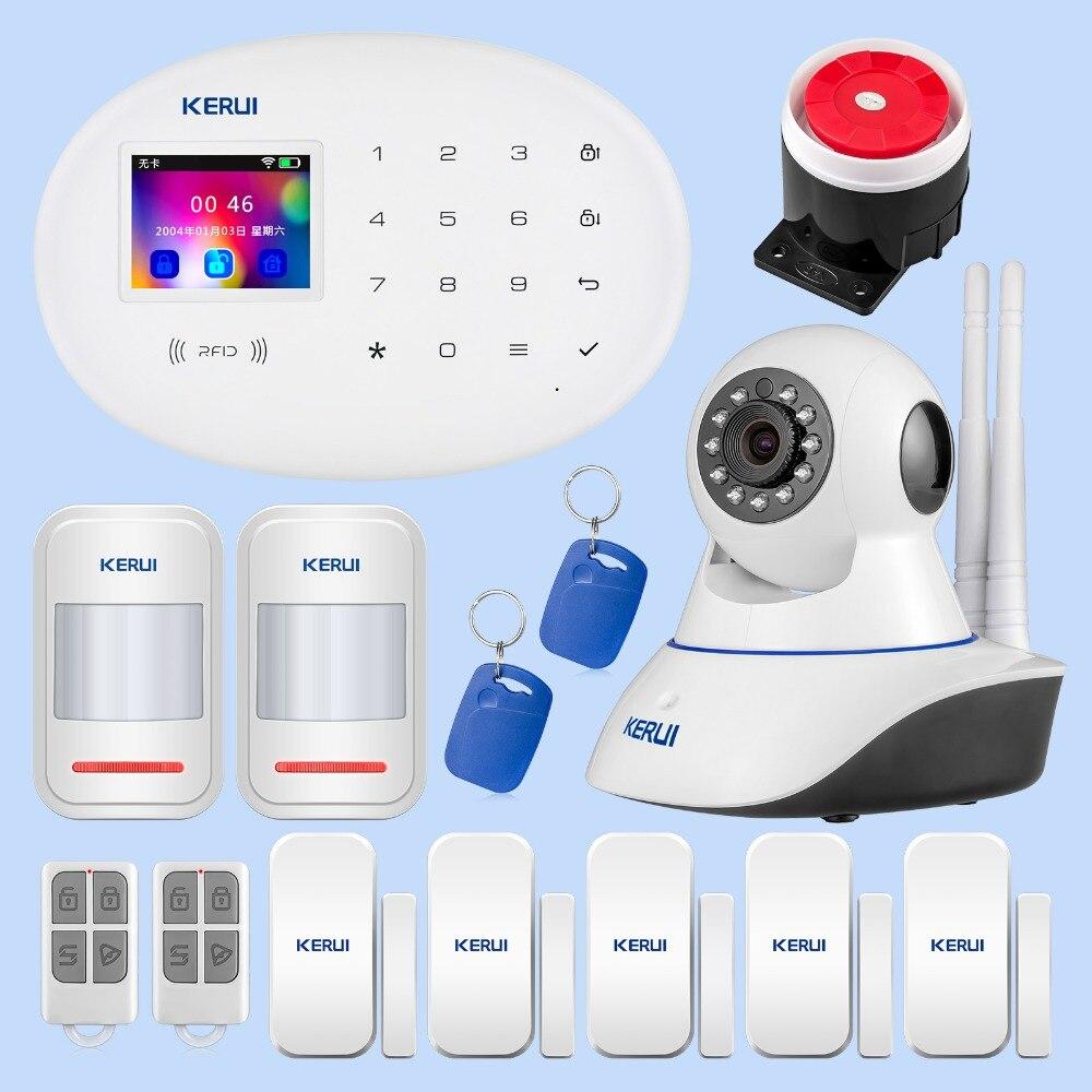 KERUI W20 système d'alarme de sécurité à domicile WiFi GSM sans fil Intelligent Alarme maison Anti-vol Protection système d'alarme écran tactile