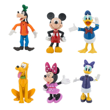 Disney Toys 6pcs/set Cartoon Mickey Mouse and Donald Duck Daisy Goofy Pluto PVC Action Figure Model Toys for children gift