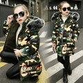 Одежда для девочек  детская зимняя утепленная хлопковая куртка  длинное камуфляжное пальто с бабочками для девочек  топы для девочек  детск...