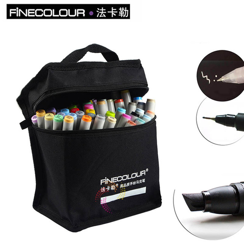 FINECOLOUR 36/48/60/72 Colors Marker Set Double Headed Sketch Markers Set Alcohol Based Manga Art Markers Art Supplies For Draw 36 colors set 0 4mm fine liner colored marker pens watercolor based art markers for manga anime sketch drawing pen art supplies