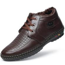 Top Quality 2016 Fashion British Style Men Boots Cotton Lace-up Snow Boots Warm Fur Winter Shoes Black Brown Blue Ankle Botas