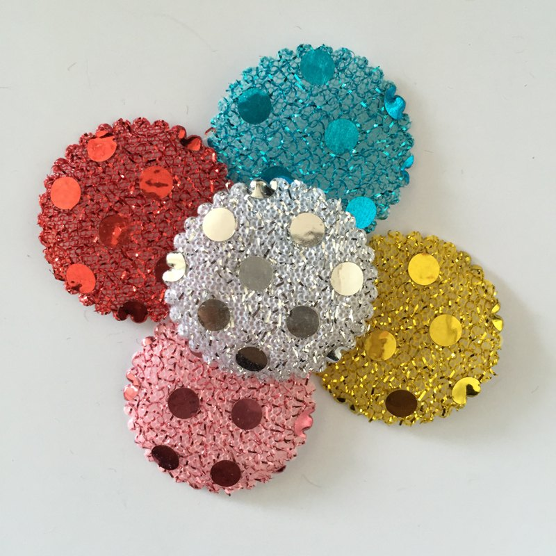 Buy 50pcs 20mm random mixed padded sequin for Applique decoration