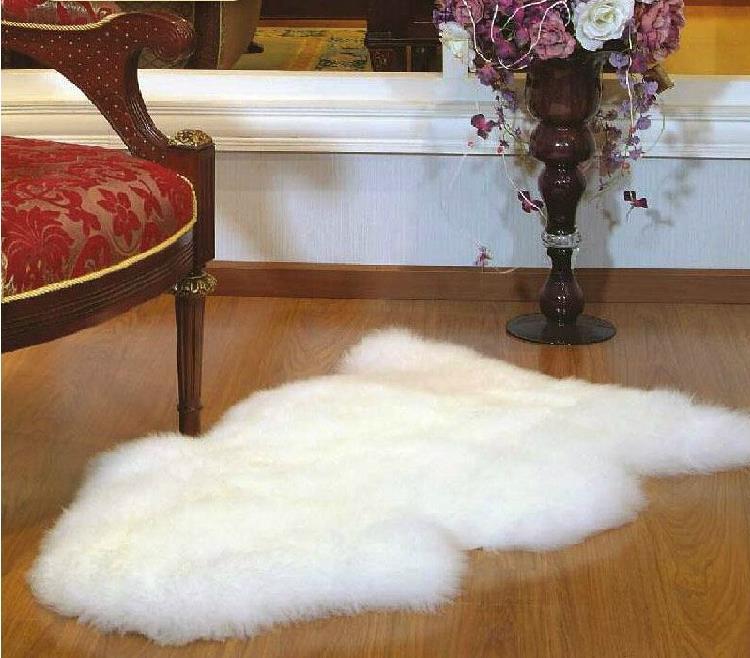 100*75 CM australie Pure laine tapis pour salon doux et luxueux tapis et tapis canapé coussin chambre tapis