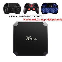 X96 Мини Android 7.1.2 ТВ коробке 2 ГБ 16 ГБ 1 ГБ 8 ГБ Amlogic S905W 4 ядра Suppot H.265 UHD 4 К 2,4 ГГц Wi-Fi X96mini Smart ТВ коробка