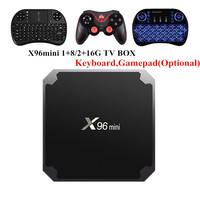 X96mini Android 7 1 2 TV BOX 2GB 16GB 1GB 8GB Amlogic S905W Quad Core Suppot