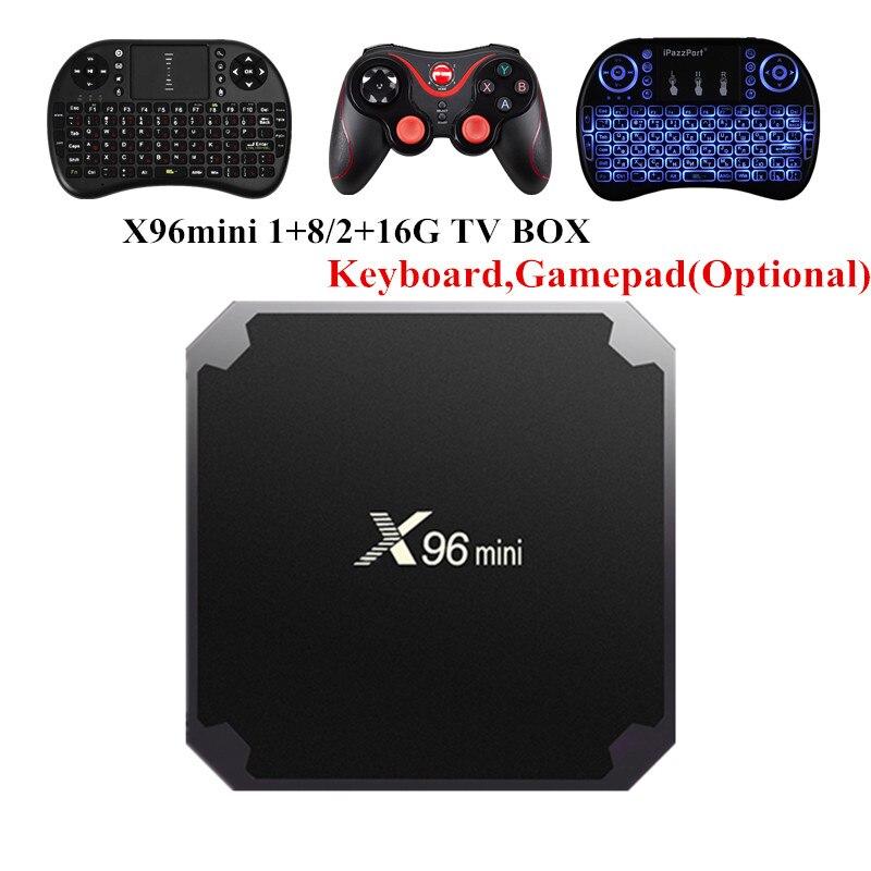 X96 mini Android 7.1.2 TV 2 GB 16 GB 1 GB 8 GB Amlogic S905W Quad Core Suppot H.265 UHD 4 K 2,4 GHz WiFi X96mini Smart TV caja