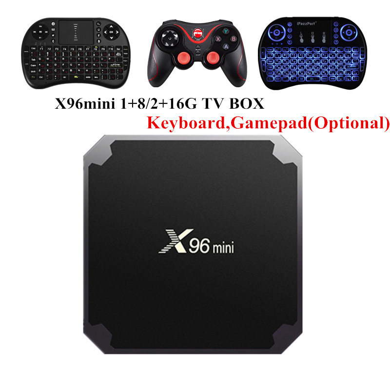 X96 mini Android 7.1.2 TV BOX 2GB 16GB 1GB 8GB Amlogic S905W Quad Core Suppot H.265 UHD 4K 2.4GHz WiFi X96mini Smart TV Box