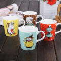 2015 new Free shipping Hot Cartoon moomin ceramic candy color polka dot coffee cup glass mug cartoon water cup