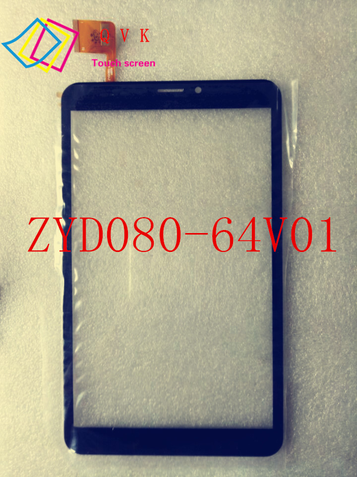Black New 8 Inch P/N ZYD080-64V01 ZYD080-64V02 W801 Tablet Touch Screen Touch Panel Digitizer Glass Sensor Replacement