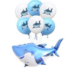 1Set Big Blue Shark Balloons Boy Animal Theme Baby Shark Birthday Party Decoration Baby Shower Boy Favors Ocean Helium Balloon