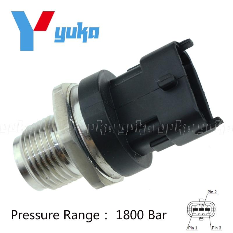 100% Test Fuel Rail High Pressure Sensor Common Injection