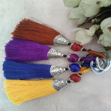 2016 key chain trendy cotton Tassel keychain women handmake key holder chain car llaveros bag pendant llaveros Charm keychain