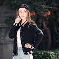 Осень и зима новый женский дикий куртки бархат бейсбол одежда мода женская бомбардировщик куртка короткая куртка женщин основной пальто
