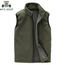 Brand 2019 Casual Vest Men Winter Warm Thick Sleeveless Jacket Military Army Mens Waistcoat Polar Fleece Vests chaleco hombre