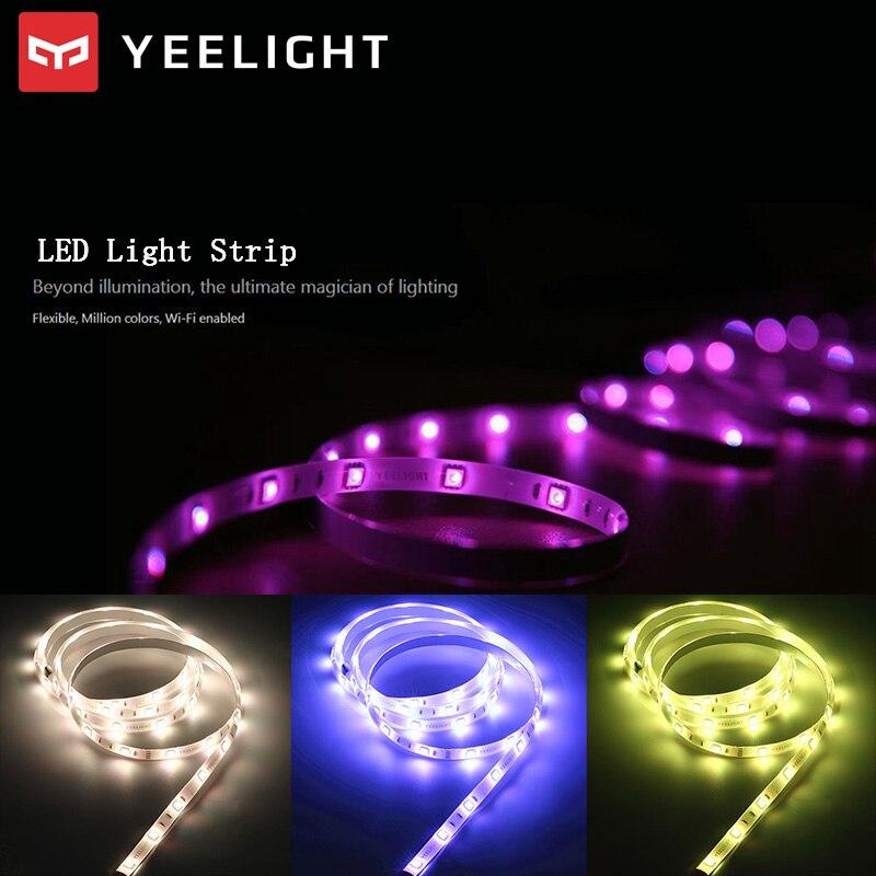 YEELIGHT Original XIAOMI 60 LED RGB Smart Light Strip WiFi Remote Control 16 Million Colors Flexible Lighting Strip For Home Pub