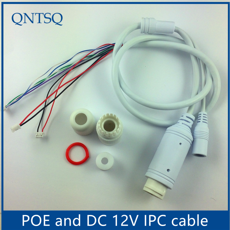 POE48V-12V,LAN Poe Cable For CCTV IP Camera Board Module,IP Camera Cable,Single Status LED,RJ45 Female Connectors With Terminlas