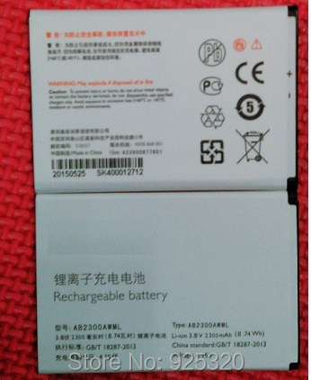 With tracking number Original battery For PHILIPS S396 S358 cellphone AB2300AWML Battery for Xenium CTS396 CTS358