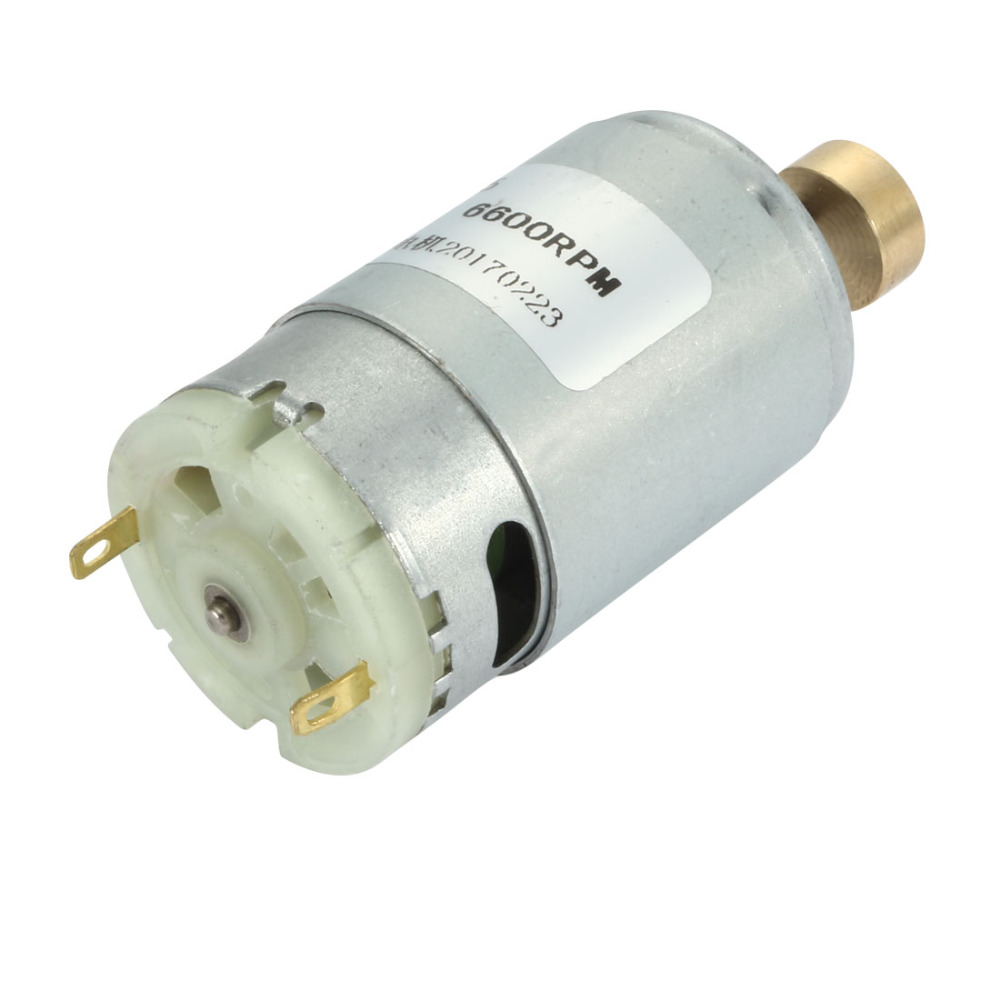 UXCELL(R) High Quality 1Pcs RS-395 2 Terminals High Torque Cylinder Micro Vibration Motor DC 24V 6600RPM image