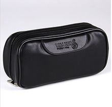 Soft PU Leather font b Bag b font Clutch For 2 Pipes Portable Weed Tobacco Smoking