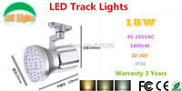 18W 1800LM LED Track Lighting Fixtures Indoor LED Lighting CE RoHS Ultra Bright Spotlights Ceiling Light