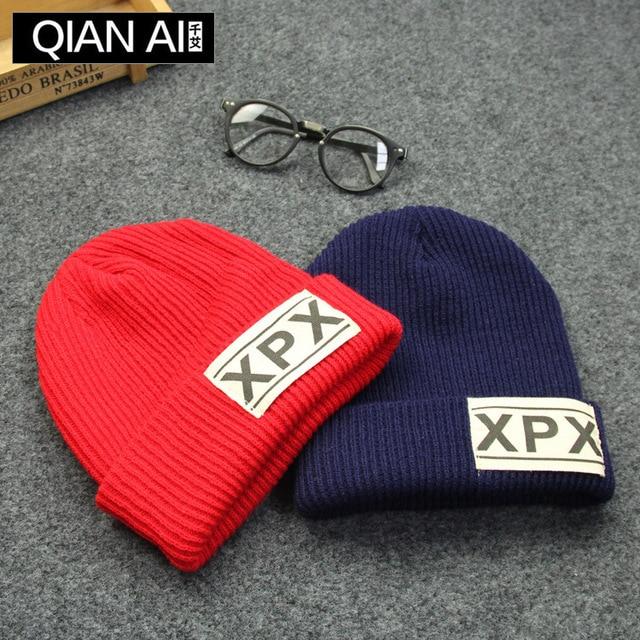 Ms Han Guochao baotou wool hat man of letters warm earmuffs flanging leisure knitting hat in winter