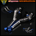 Blue+titanium Adjustable Folding Extendable Motorcycle Brake Clutch Levers For BMW R1200GS (LC) (2013+up)  2013 2014 2015 2016