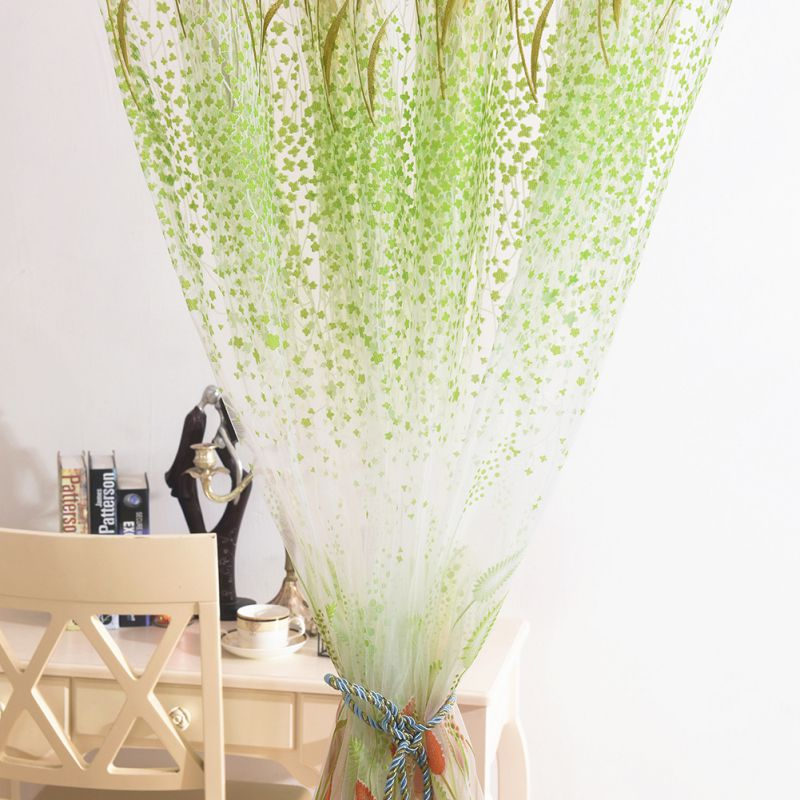 1pc Window Sheer Voile Tulle Curtains For Bedroom Living Room