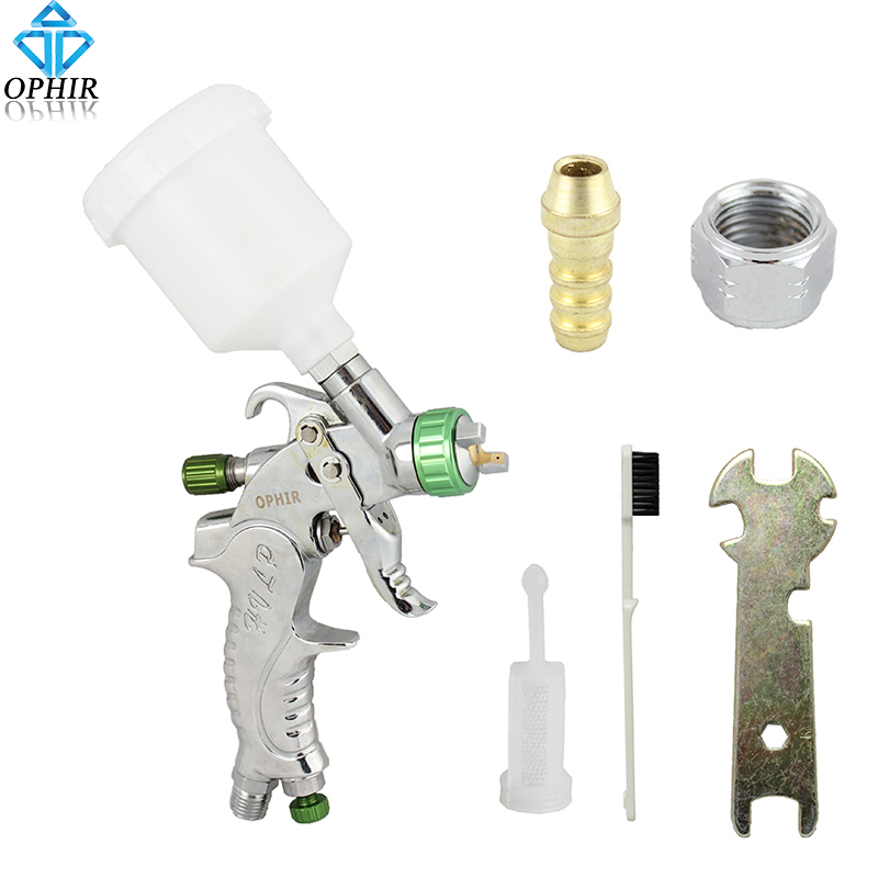 OPHIR 3 Συμβουλές Pro Διπλή Δράση Airbrush Kit για Χόμπι Φωτογραφία Ρήξη Κέικ Διακόσμηση Airbrushing Gun_ AC046 (1.0mm)