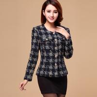Fashion Brand Spring Autumn New Plaid Tweed Small Fragrant Woolen Coat Female Aristocratic Temperament Small Coat