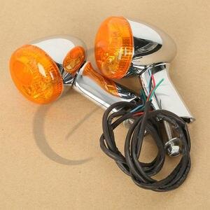 دراجة نارية دراجة نارية العنبر الخلفية الصمام بدوره أضواء الإشارة ل هارلي XL883 XL1200 سبورتستر 92-16