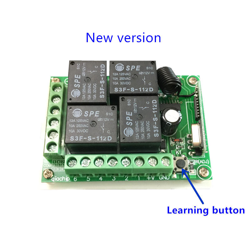 Image 4 - 433Mhz  Wireless Remote Control Switch DC 12V 4CH relay Receiver Module and RF Transmitter 433 Mhz Remote Controls-in Remote Controls from Consumer Electronics