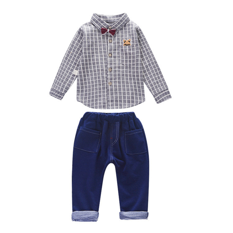 Spring Autumn Children Boys Girls Clothing Sets Baby Tie Shirt Pants 2Pcs/Sets Infant Clothes Fashion Toddler Casual Tracksuits
